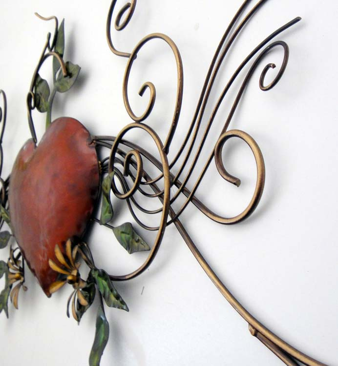 Metal Wall Art - Heart Scroll