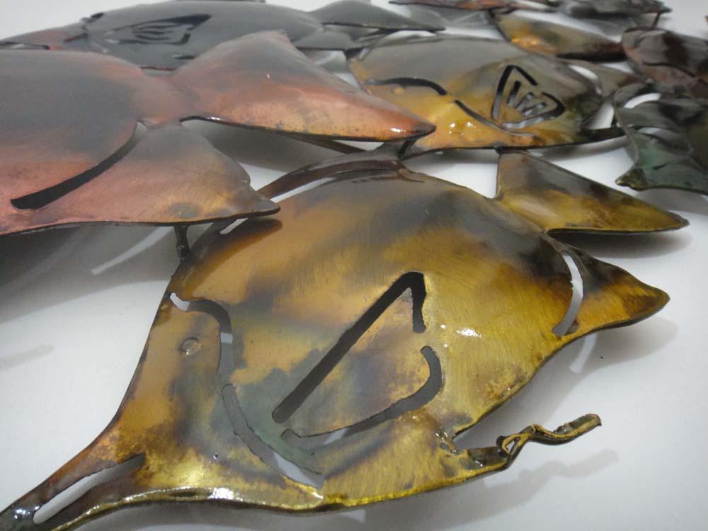 Metal Wall Art - Colour Fish Shoal