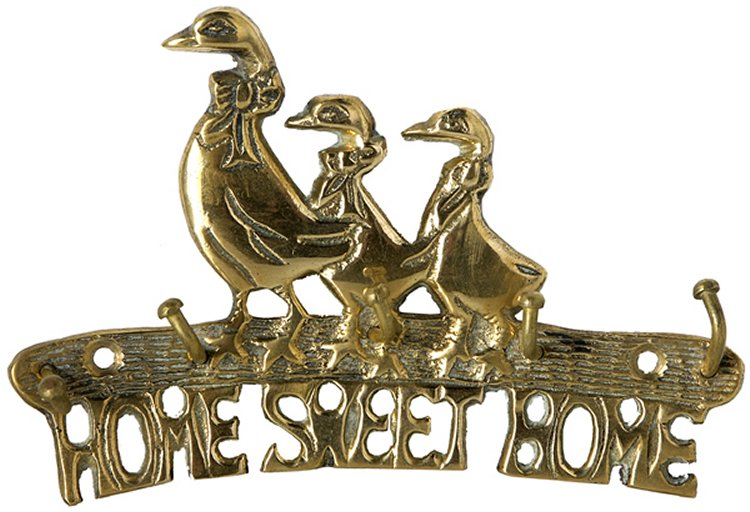 Brass Duck Key Hook - Home Sweet Home