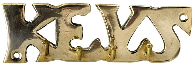 Brass Key Hook - Keys