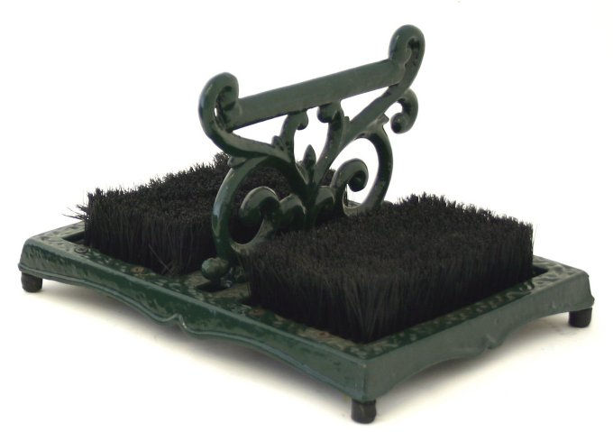 Cast Iron Boot Scraper and Brush