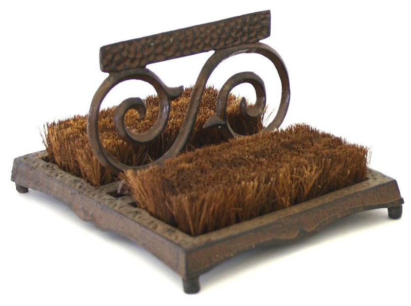 Cast Iron Scroll Boot Brush Scraper