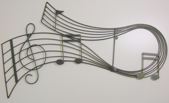 music notes art. The music art piece measures