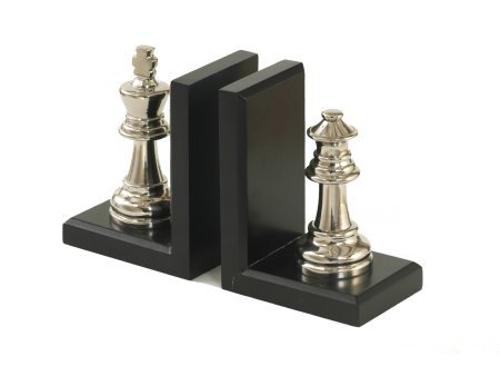 King And Queen Chess Bookends