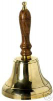 Large Brass School Hand Bell