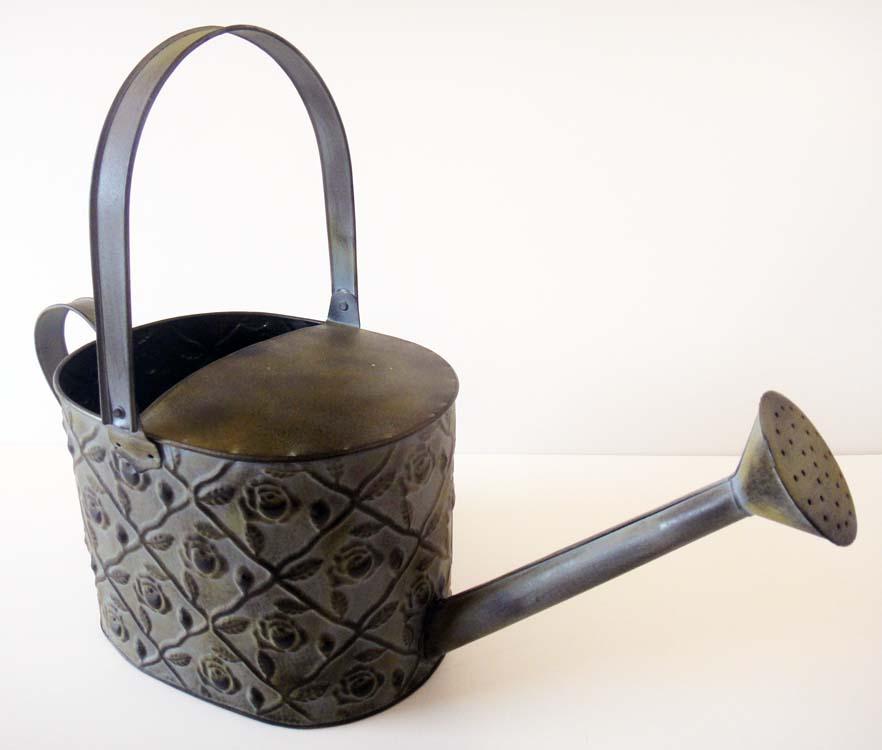 Large Decorative Metal Watering Can Flower Pot Planter Ebay