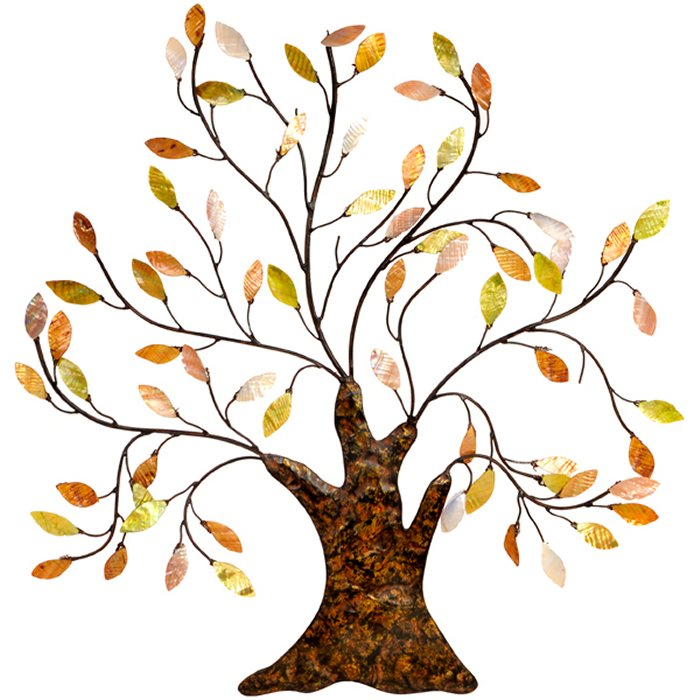 metal wall art new wall decor autumn leaves oak tree ebay