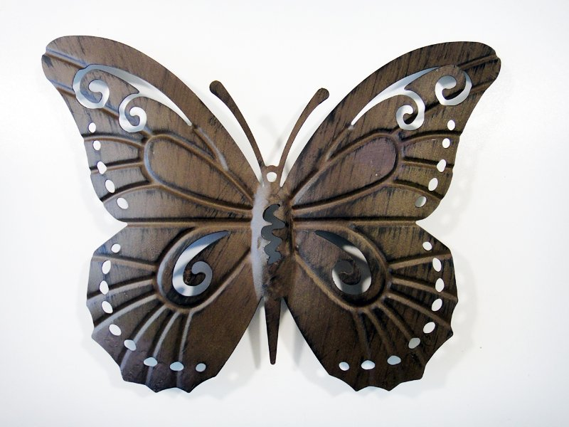 contemporary metal wall art decor butterfly silhouette ebay. Black Bedroom Furniture Sets. Home Design Ideas