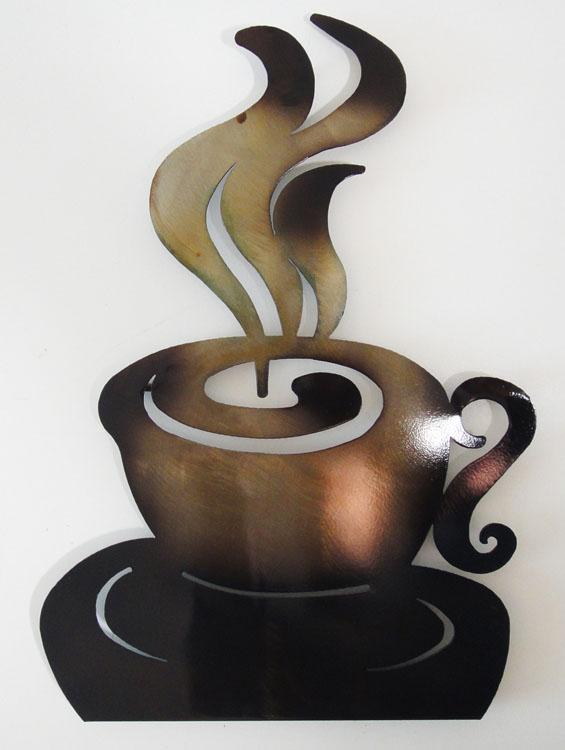 Metal Coffee Cup Wall Decor - Castrophotos