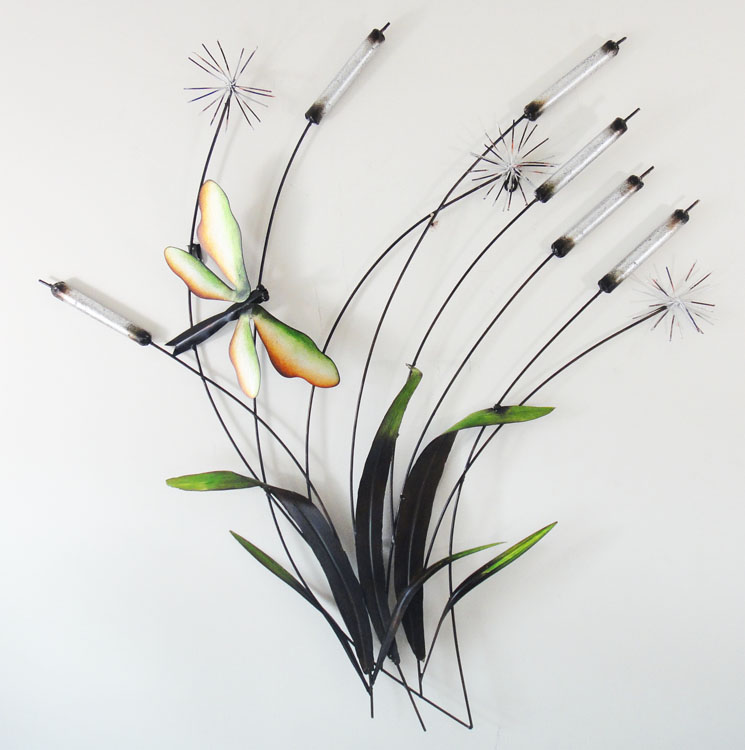 Metal Wall Art - Dragonfly Rush
