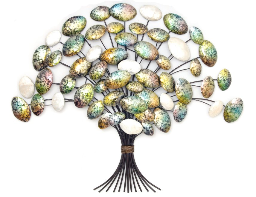 metal wall art new wall decor mother of pearl oak tree ebay