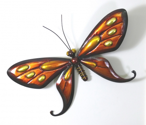 metal wall art   red tin butterfly
