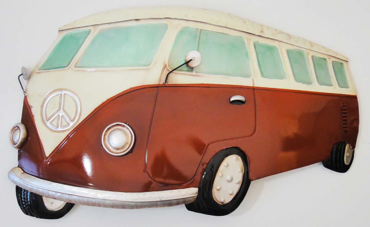 Camper Van Art - red vw campervan