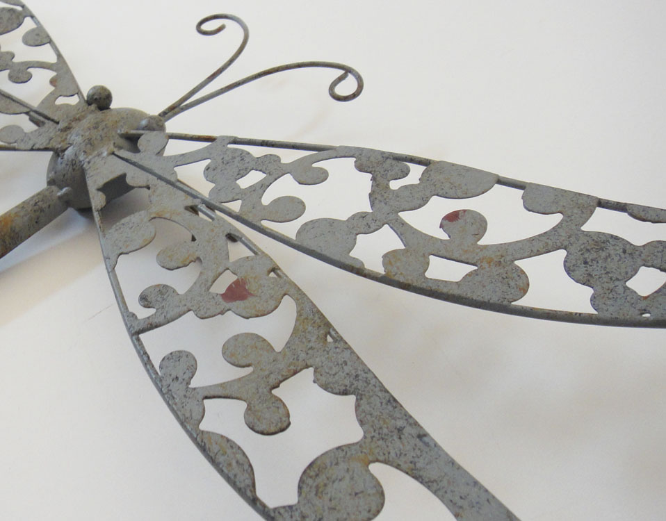 Outdoor Wall Decor Dragonfly : New metal wall art decor shabby chic rustic dragonfly
