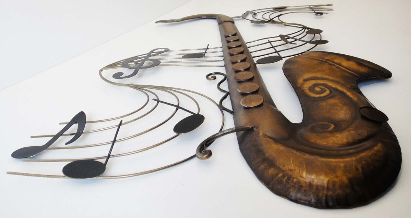 Metal Wall Art - Saxophone Music Score