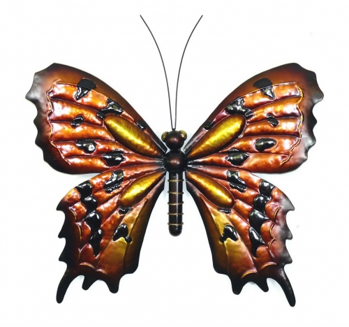 metal wall art   tin butterfly large