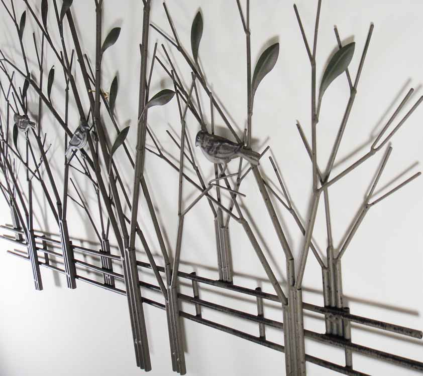 Metal Wall Artwork : Metal wall art tree bronze sculpture