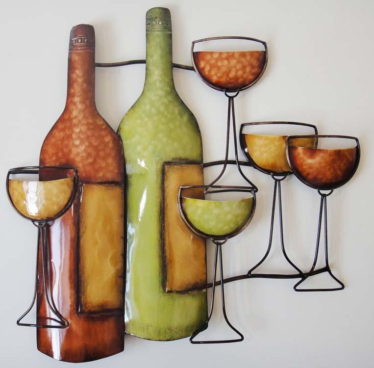 Wine Bottle Metal Wall Art Metal Wall Art Wine Bottle