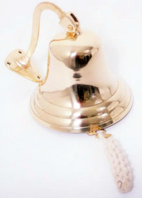 Small Brass Ships Bell With Mounting Bracket