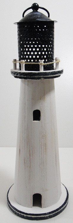 Small Shabby Chic Lighthouse Candle Holder