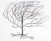 metal wall art large windy oak tree