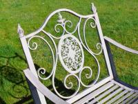 Antique Grey Metal Rocking Chair