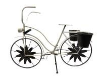 Antique Style Shabby Chic White Bicycle Planter