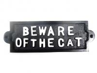 Cast Iron Sign - Beware Of The Cat