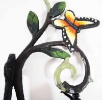 Cast Iron Wall Bell - Butterfly