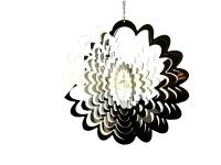 Extra Large Flower Stainless Steel Wind Spinner With Crystal