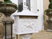 Freestanding White Letter Post Box