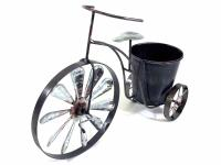 Galvanised Tin Tricycle Windmill Flower Pot Planter