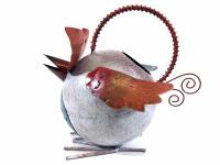 Garden Metal Owl Watering Can