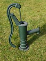 Small Garden Cast Iron Hand Water Pump Green