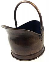 Large Antique Finish Helmet Coal Scuttle Bucket