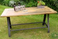Large Vintage Industrial Urban Dining Table