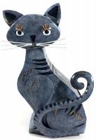 Metal Cat Ornament and Candle Holder