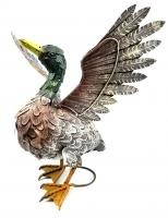 Metal Flapping Duck Garden Ornament