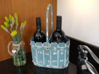 Metal Flower Pot Planter / Wine Holder