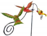 Metal Garden Wind Vane Spinner - Flying Bird Design