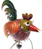 Metal Garden Wind Vane Spinner - Large Rooster Chicken Design