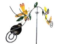 Metal Garden Wind Vane Spinner - Nature Scene Design