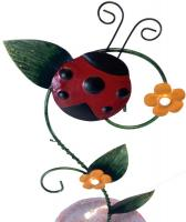 Metal Ladybird Bird Bath or Feeder