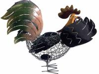 Metal Rooster Ornament And Candle Holder