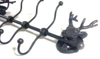 Metal Stag Coat Hook Rack