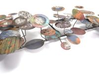 Metal Wall Art - Abstract Disc Cluster