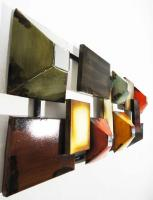 Metal Wall Art - Abstract Grid