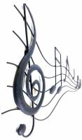 Metal Wall Art - Black Musical Stream