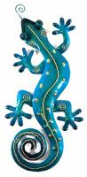 Metal Wall Art - Small Blue Gecko Wall Decor