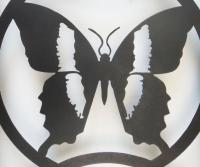 Metal Wall Art - Butterfly Silhouette Trio